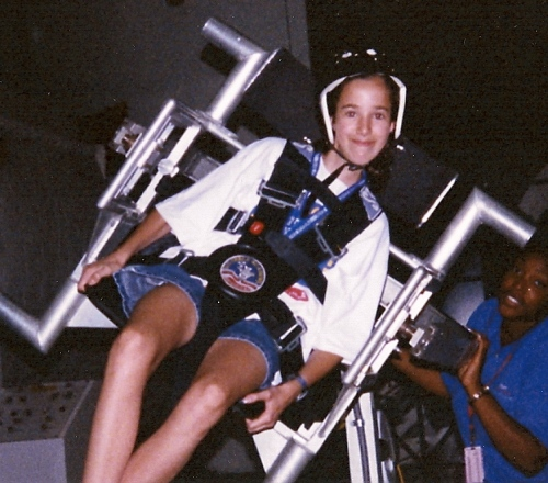 age 13, at space camp