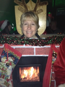 Found a fireplace on the dance floor!