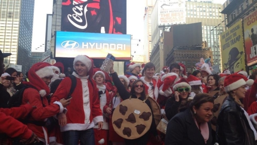 Our friend Lisa, the cookie, was a champion of SantaCon.