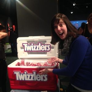 There were so many coolers of Twizzlers.
